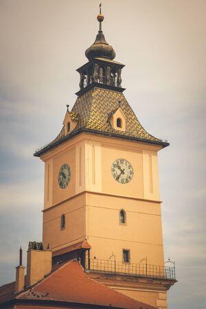 Council House in Brasov. Brasov, Brasov County, Romania. Stockfoto