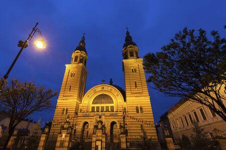 Holy Trinity Cathedral in Sibiu. Sibiu, Sibiu County, Romania. Stockfoto