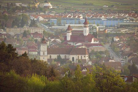 Churches in Brasov. Brasov, Brasov County, Romania.