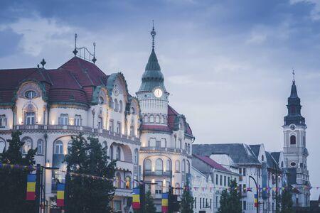 Architecture of Oradea at dawn. Oradea, Bihor County, Romania. Stockfoto