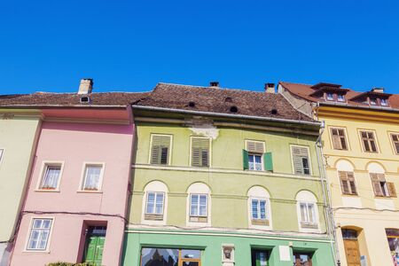 Old architecture of Sighisoara. Sighisoara, Mures County, Romania.