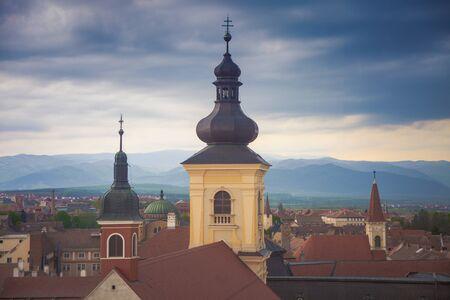 Holy Trinity Church in Sibiu. Sibiu, Sibiu County, Romania. Stock fotó