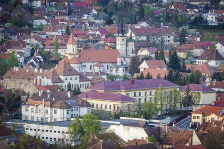 Architecture of Brasov. Brasov, Brasov County, Romania. Stock Photo