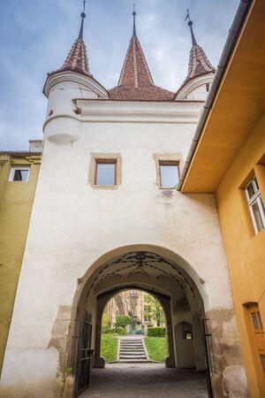 Catherine Gate in Brasov. Brasov, Brasov County, Romania.