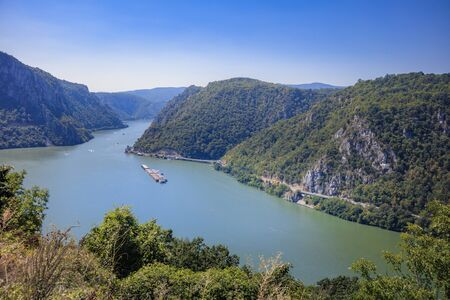 Danube River in Serbia. Serbia and Romania border. 写真素材