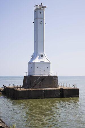 Huron Harbor Lighthouse in Ohio, USA.