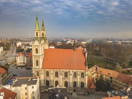 Holy Cross Church in Brzeg. Brzeg, Opole, Poland.