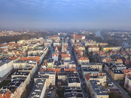 Panorama of Brzeg. Brzeg, Opole, Poland.