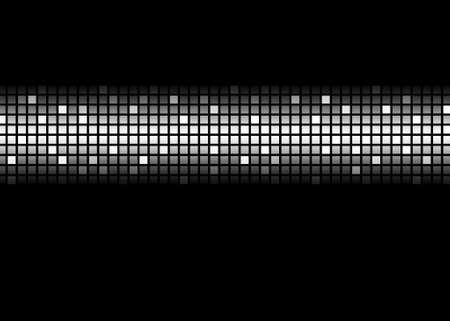 黒と白の抽象的なドット マトリックス パターン 写真素材