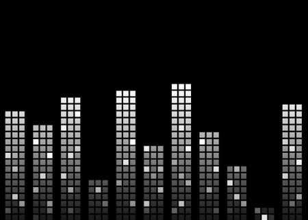 photoshop: Zwart en wit Abstract muziek Equalizer Bars