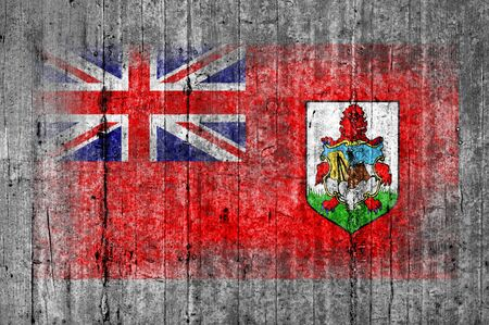 Bermuda flag painted on background texture gray concrete Stock Photo