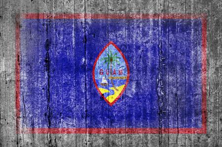 Guam concrete flag