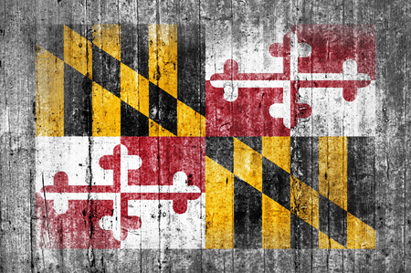 Maryland concrete flag
