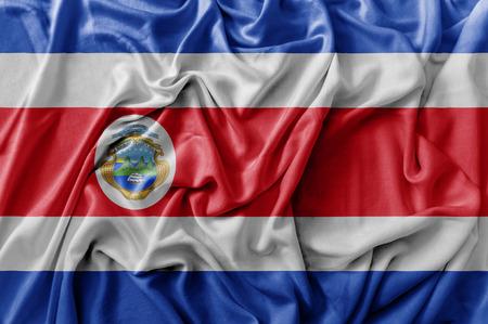 Ruffled waving Costa Rica flag