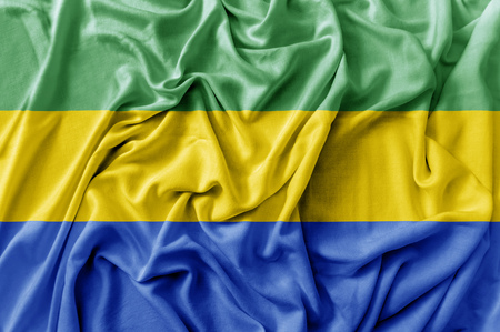 Ruffled waving Gabon flag