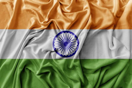 Ruffled waving India flag