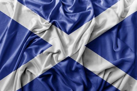 Ruffled waving Scotland flag