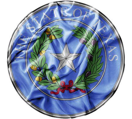 Ruffled waving United States Texas Seal flag Zdjęcie Seryjne