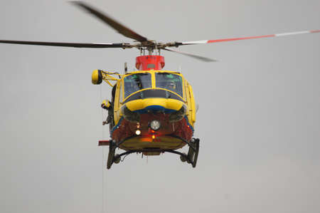 leeuwarden: leeuwarden Netherlands 16-17 sep 2011 sar helicopter gives a demo during the air show