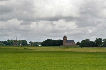 A church on a mound in Friesland