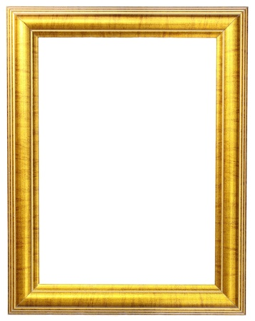 rectangle frame: gold picture frame  Stock Photo