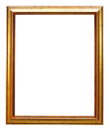 photo edge: gold picture frame  Stock Photo