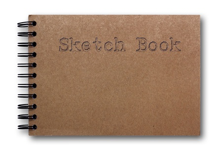 brown sketch book isolated on white background  photo