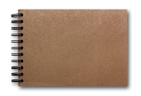brown sketch book isolated on white background  Stock Photo - 10011413