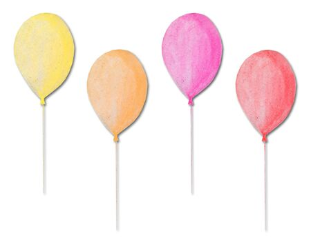 multicolored balloons made of recycle paper Stock Photo - 10142685