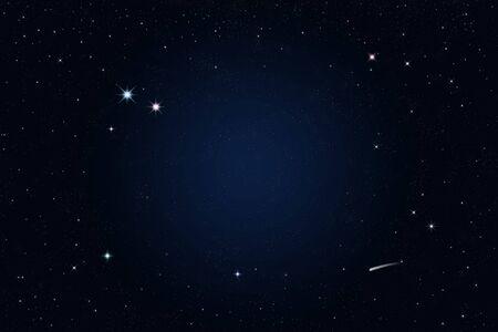 noche estrellada: noche estrellada, una estrella fugaz