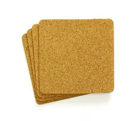 stack of cork sheet, copy space for text  photo