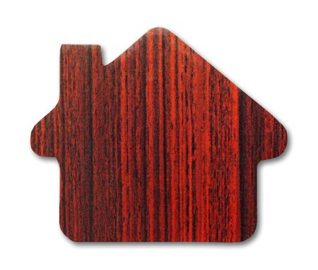 wooden house icon  photo