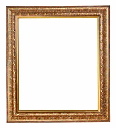 bordure vieille photo: Cadre photo or avec un motif d�coratif Banque d'images