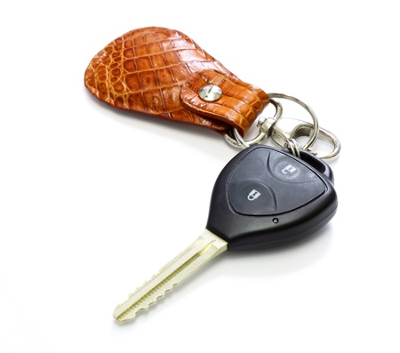 clue: key car with remote , key chain  Stock Photo
