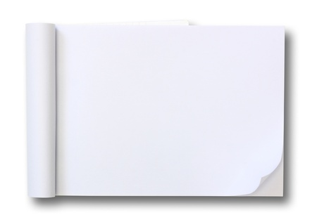 paper note: blank Paper tablet