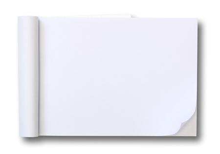 nota de papel: tablet de papel en blanco