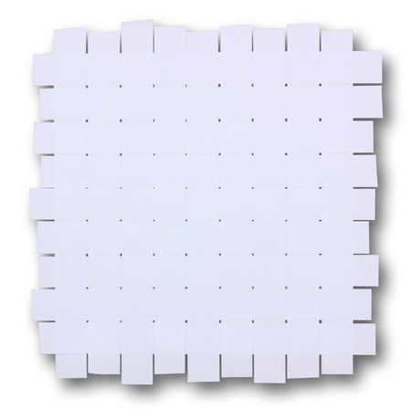 Wicker white paper background  Stock Photo - 10308626
