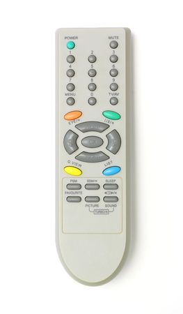 close up of a remote control on white background  photo