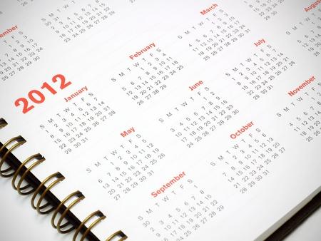 Um calend�rio 2012 Banco de Imagens