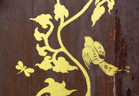 gold painting on wood texture  Stock Photo - 10400954