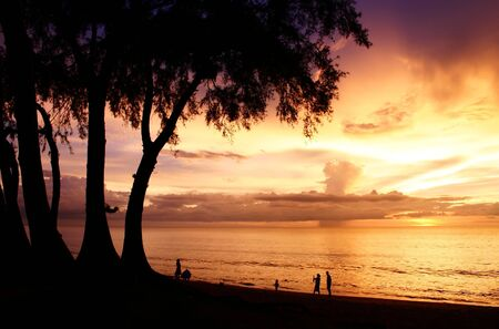 Twilight at maikao beach phuket  photo