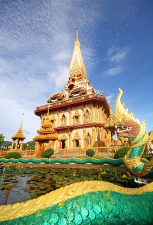 Pagoda in wat chalong phuket  photo
