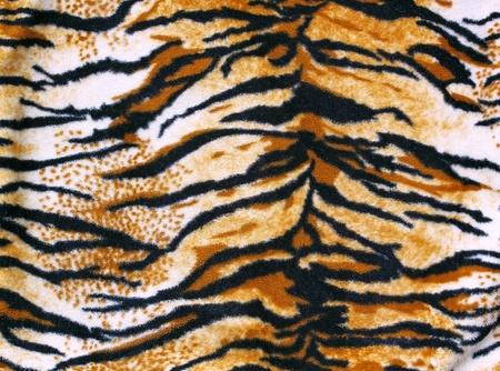 tiger skin: fabric tiger  Stock Photo