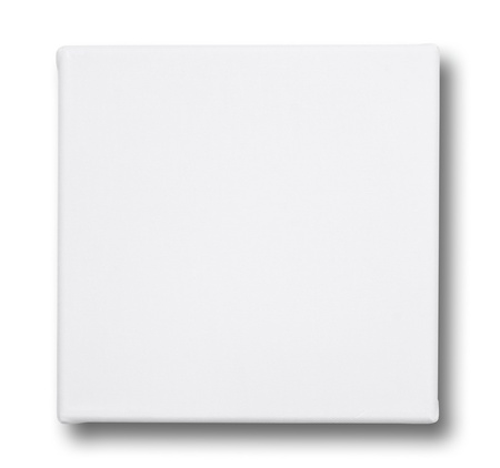 blank canvas: Square canvas on a stretcher. isolated on white