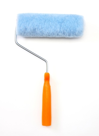 Paint roller, isolated  photo