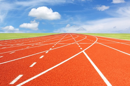 way of living: Running track with sky and clouds