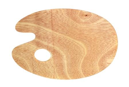 paleta de pintor: Paleta para pintar madera limpia nuevo