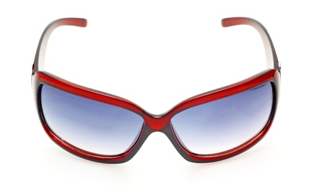 protecting spectacles: Sunglasses isolated on white background  Stock Photo