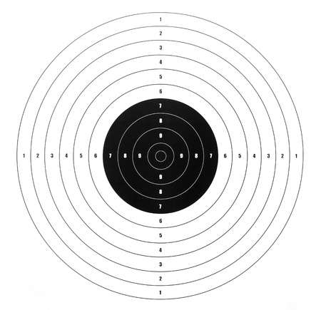 individual sport: paper shooting target for shooting practice