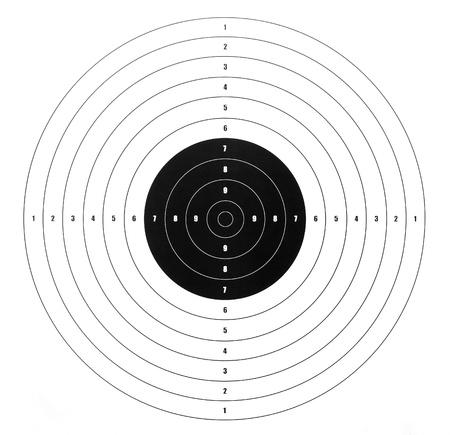 shooting target: papier schietschijf voor schietbanen